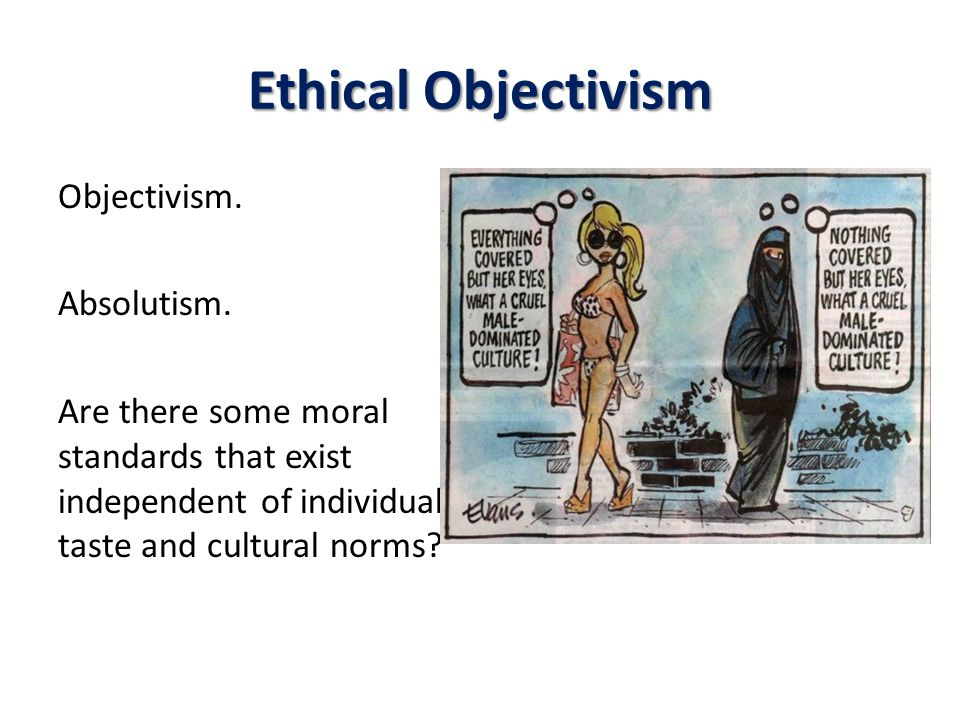 Ethical Objectivism Objectivism. Absolutism.