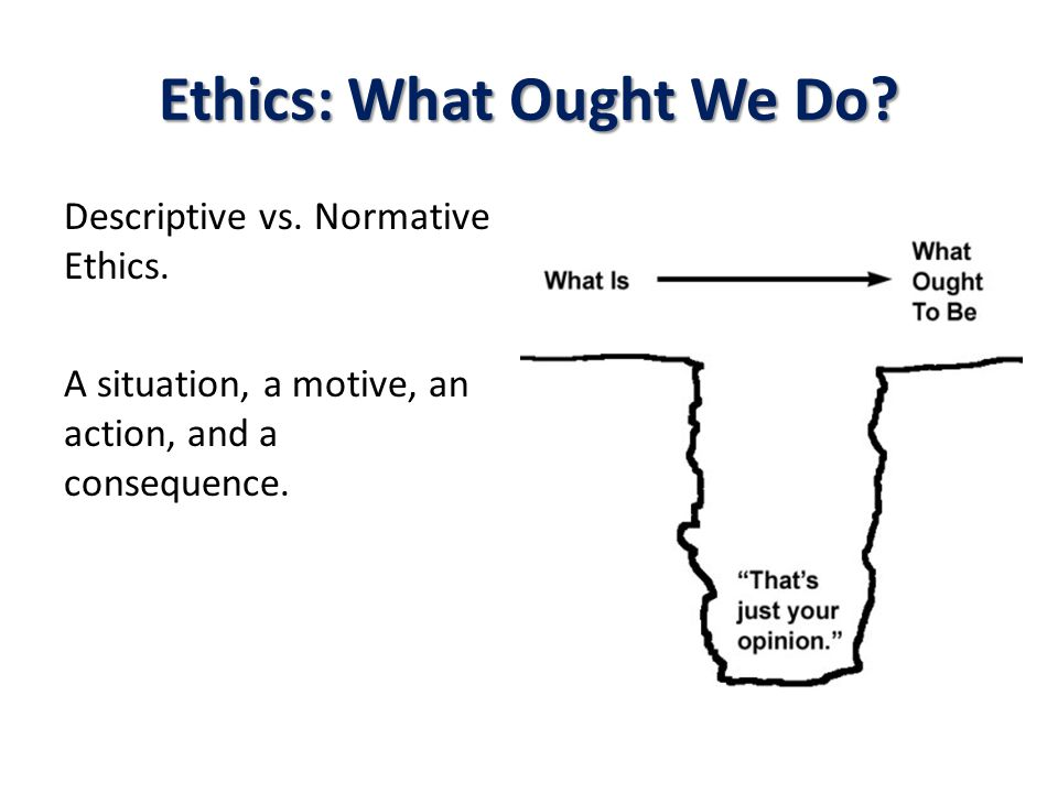 Ethics: What Ought We Do