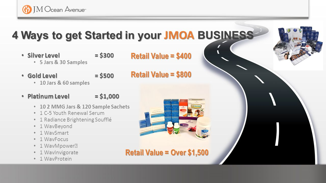 4 Ways to get Started in your JMOA BUSINESS