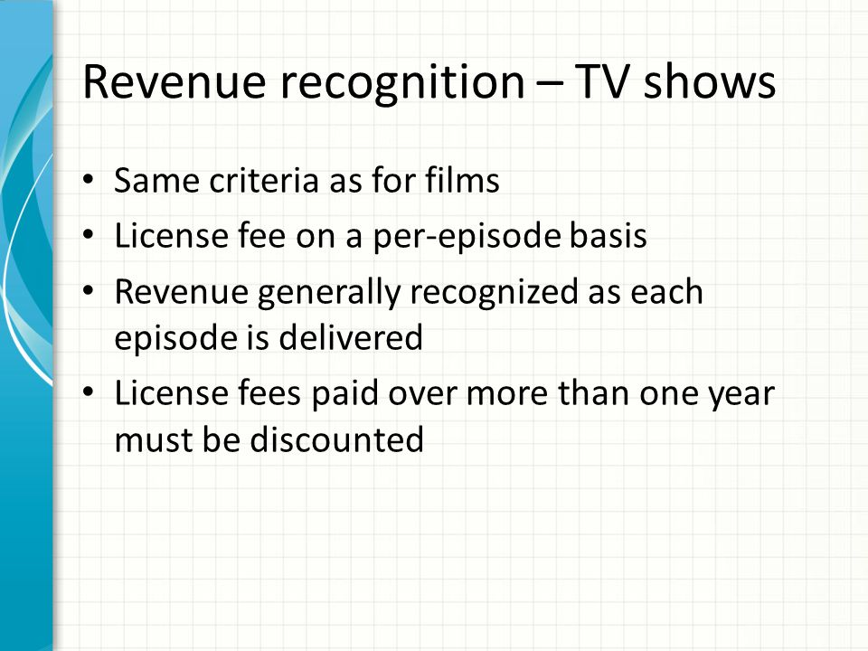 Revenue recognition – other considerations