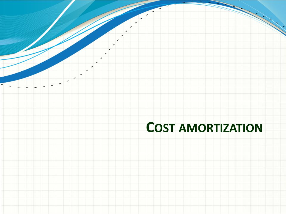 Cost amortization basics