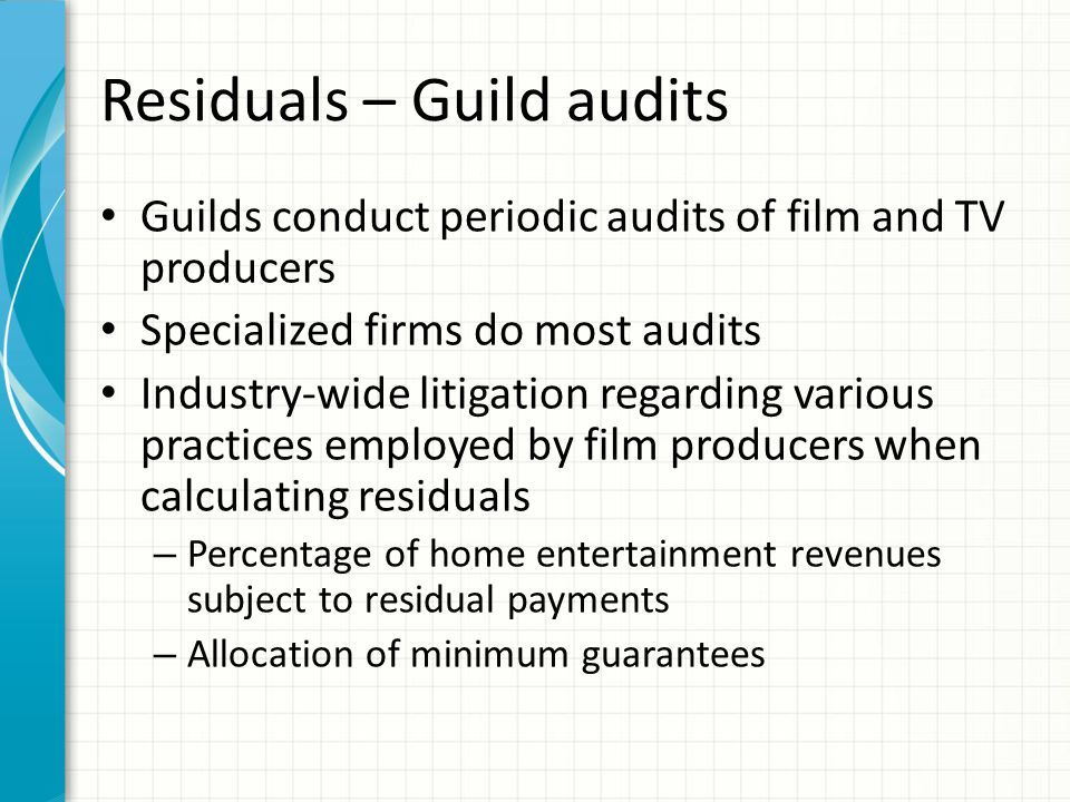 Residuals calculation