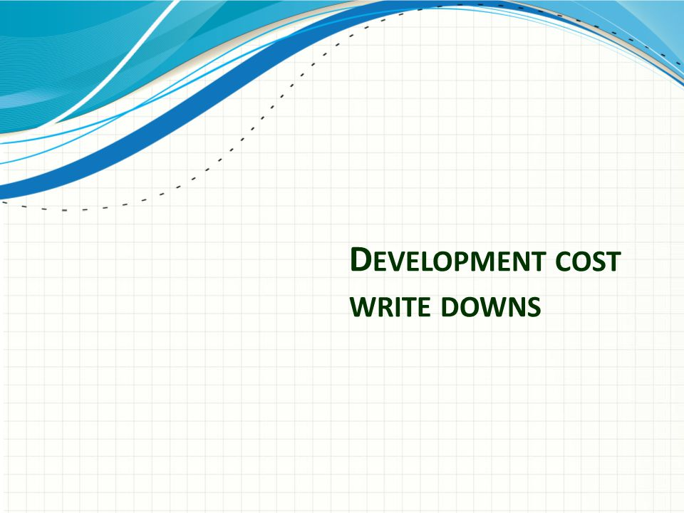 Development cost write downs