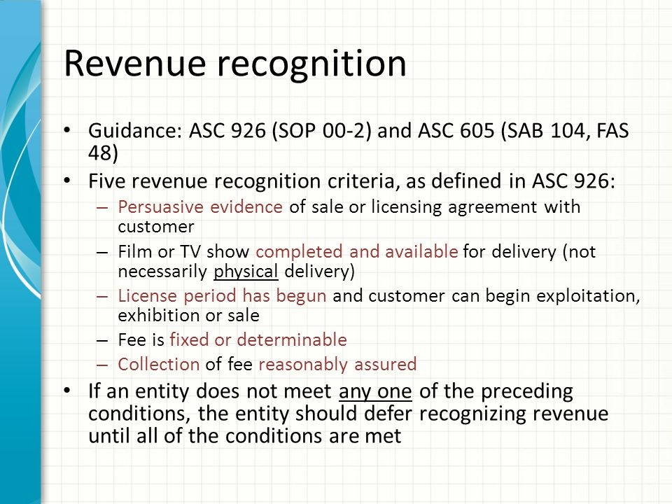 Revenue recognition - theatrical