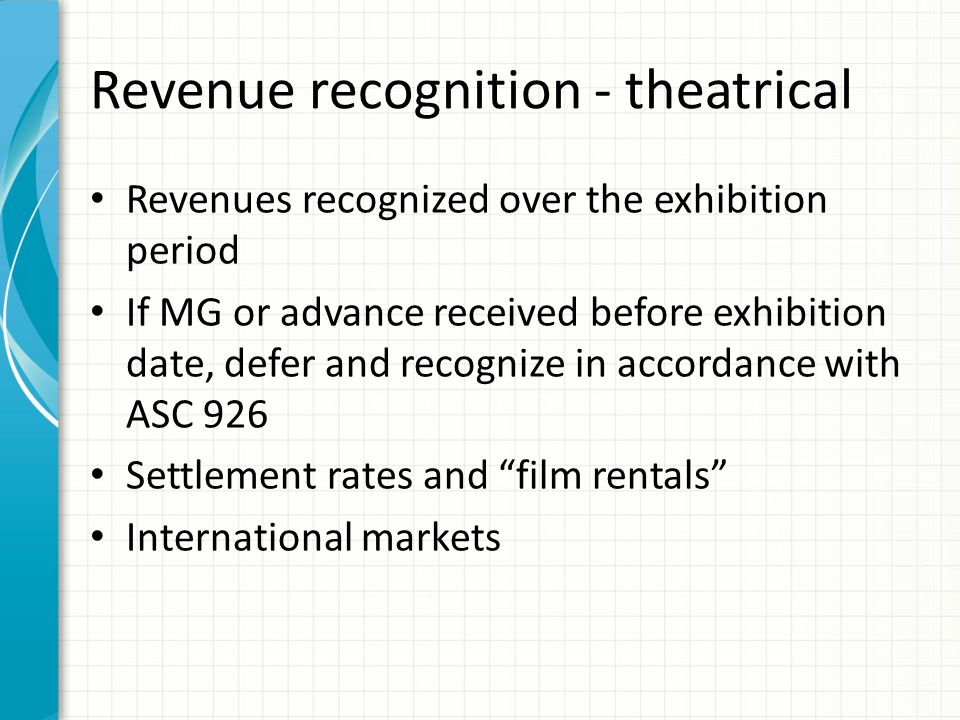 Revenue recognition – home entertainment