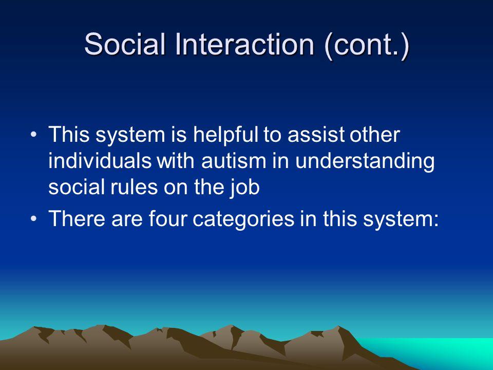 Social Interaction (cont.)