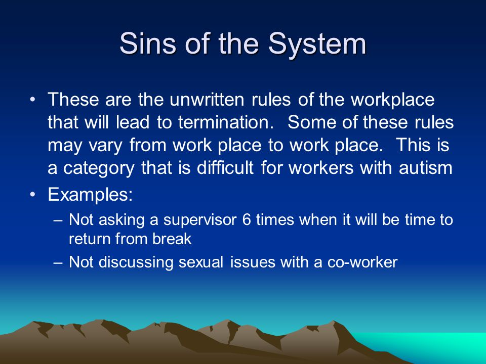Sins of the System