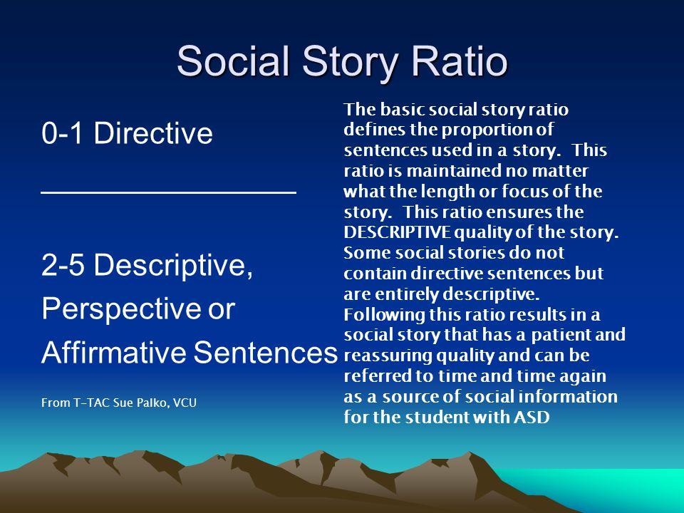 Social Story Ratio