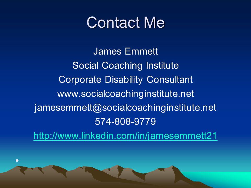 Contact Me James Emmett Social Coaching Institute