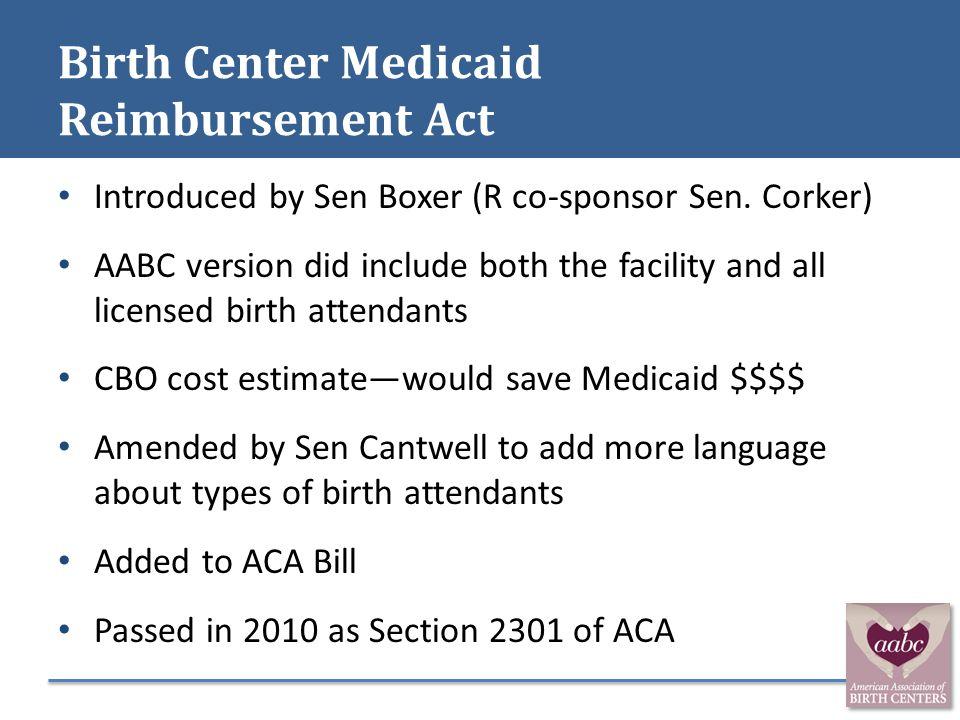 Birth Center Medicaid Reimbursement Act