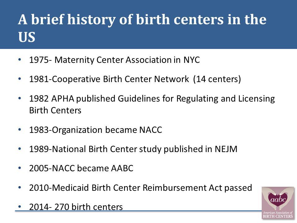 A brief history of birth centers in the US
