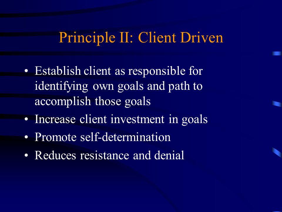 Principle II: Client Driven