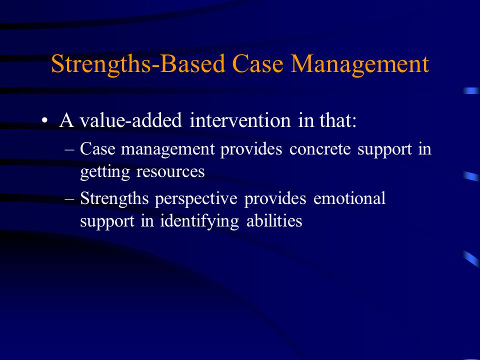 Strengths-Based Approach for Mental Health Recovery