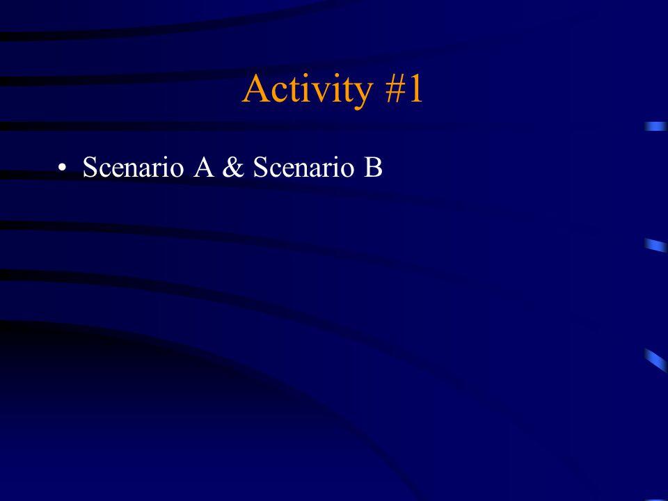 Activity #1 Scenario A & Scenario B