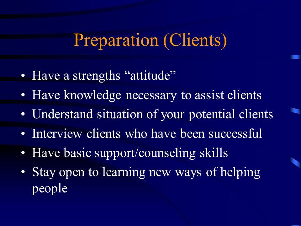 Preparation (Clients)