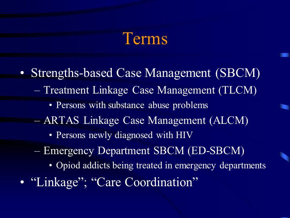 Terms Strengths-based Case Management (SBCM)