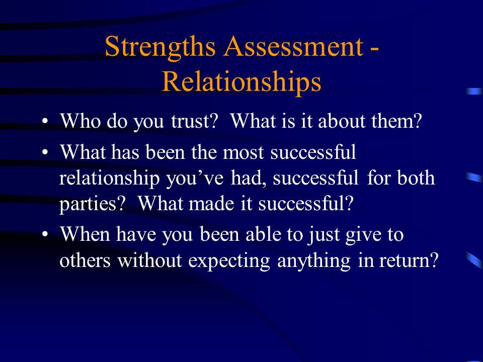 Strengths Assessment - Relationships