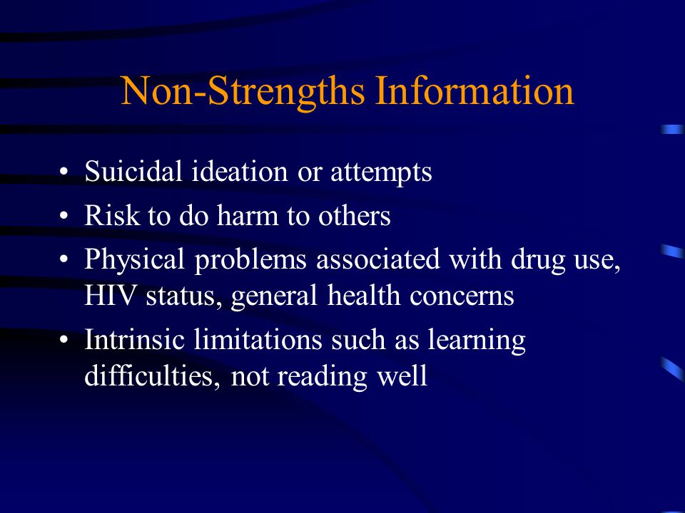 Non-Strengths Information