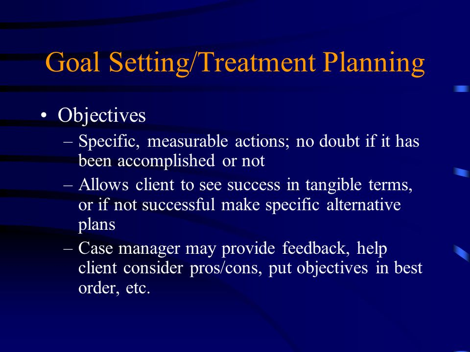 Goal Setting/Treatment Planning