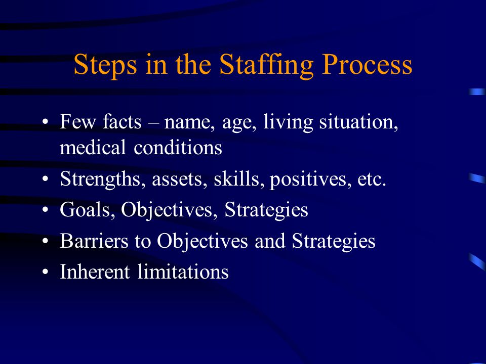 Steps in the Staffing Process
