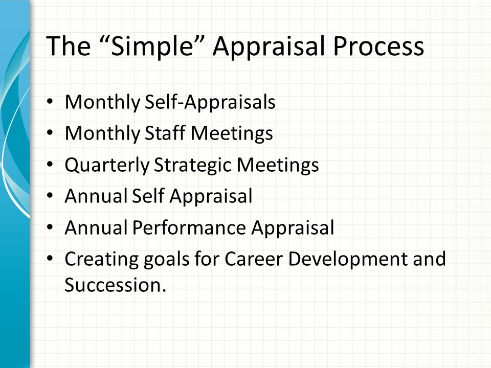 The Simple Appraisal Process