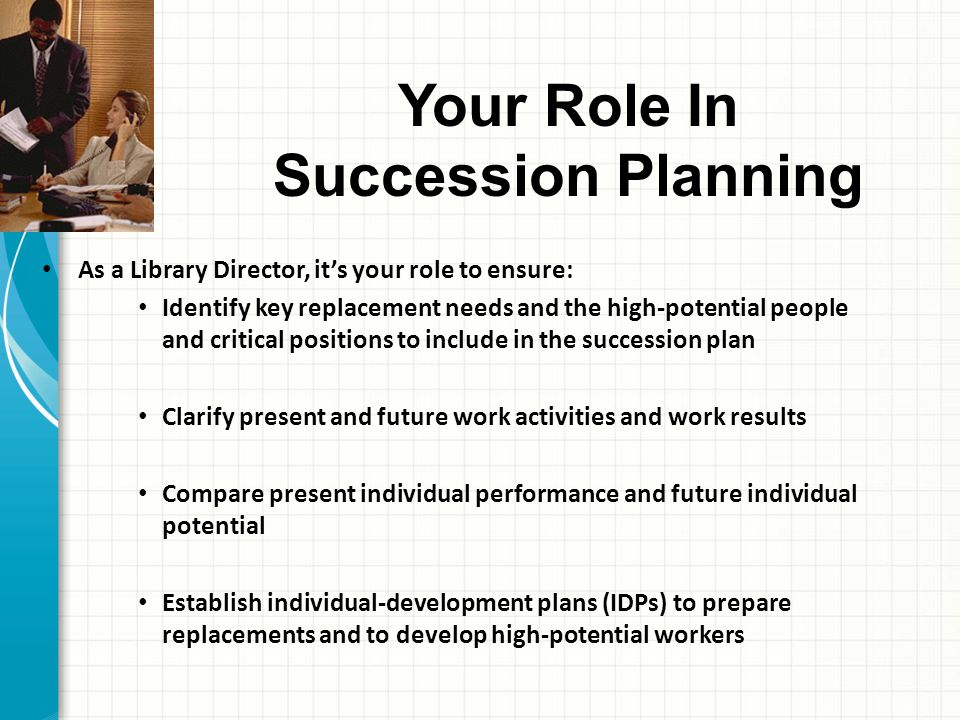Your Role In Succession Planning