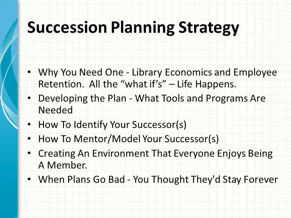 Succession Planning Strategy