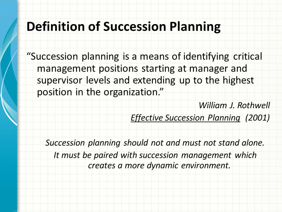 Definition of Succession Planning
