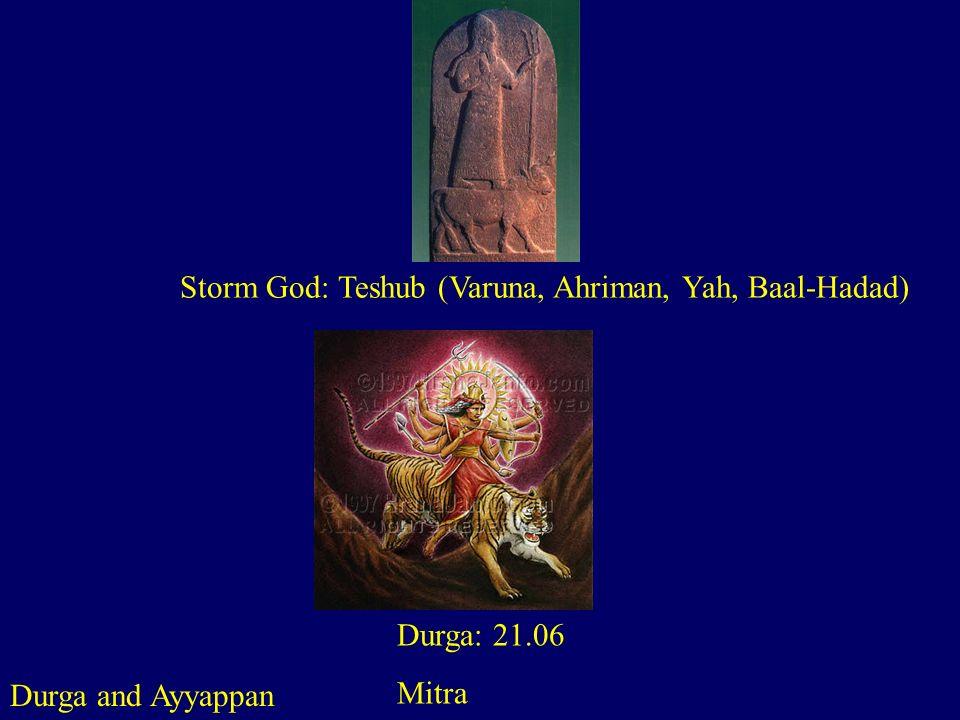 Storm God: Teshub (Varuna, Ahriman, Yah, Baal-Hadad)