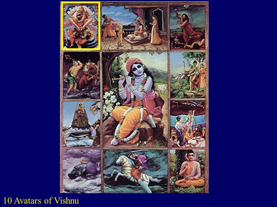 10 Avatars of Vishnu http://www.columbia.edu/itc/mealac/pritchett/00routesdata/0400_0499/pantheon/avatars/avatars.html.