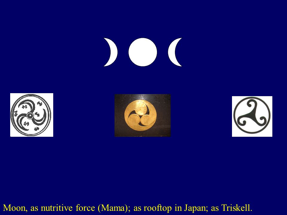 Moon, as nutritive force (Mama); as rooftop in Japan; as Triskell.