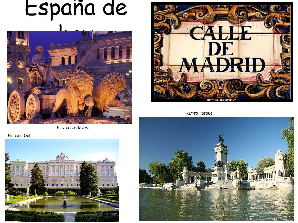 España de hoy Retiro Parque Plaza de Cibeles Palacio Real