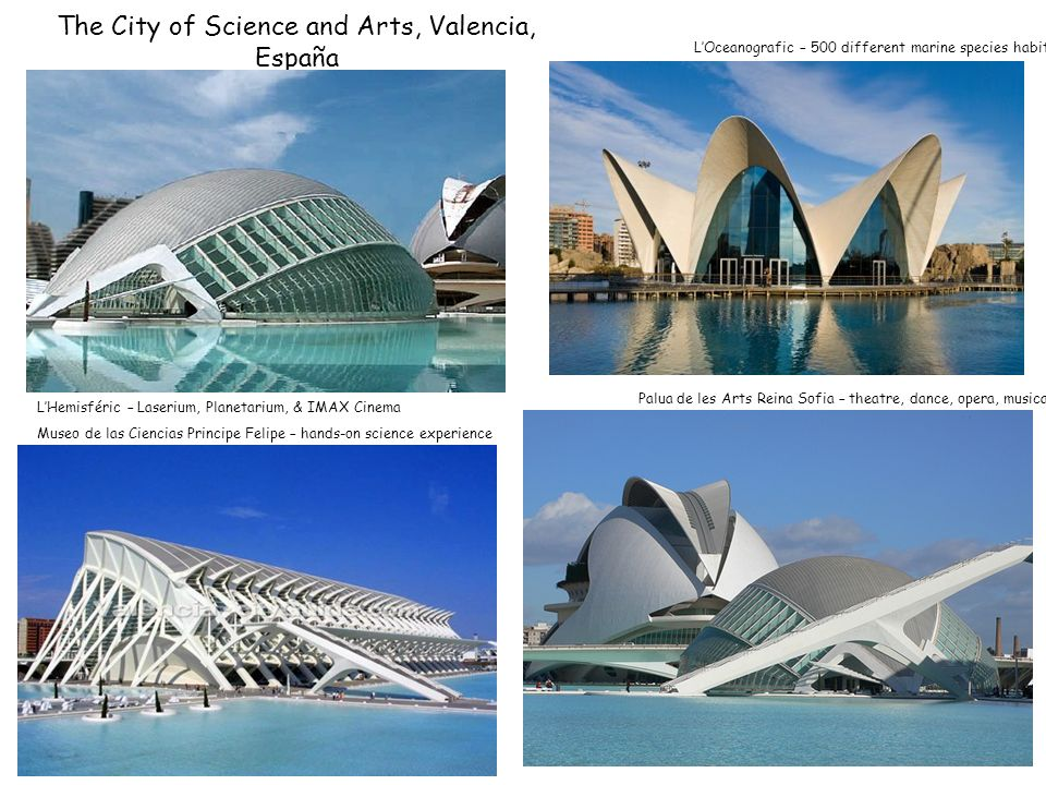The City of Science and Arts, Valencia, España