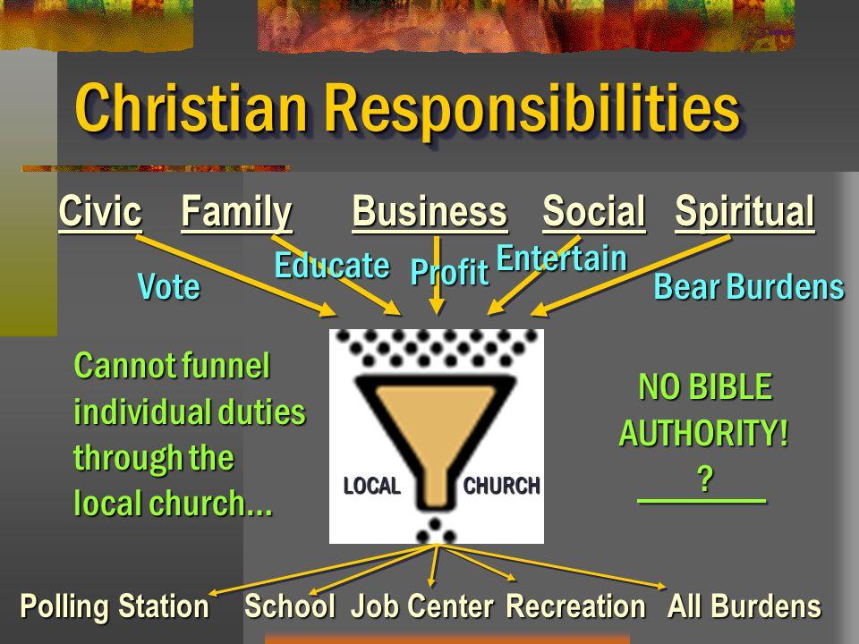 Christian Responsibilities