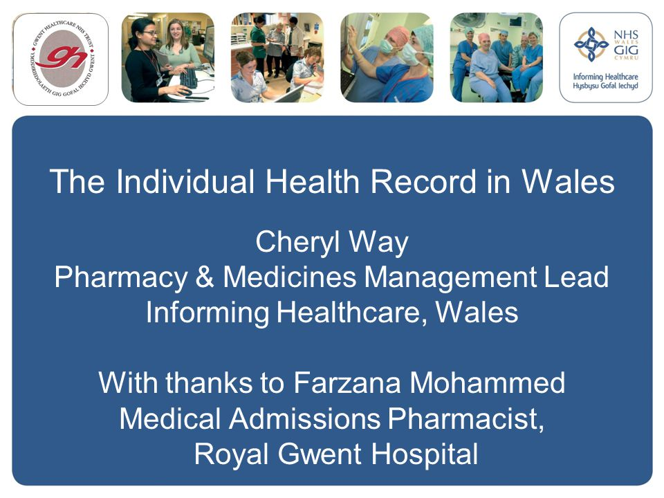 The Individual Health Record in Wales