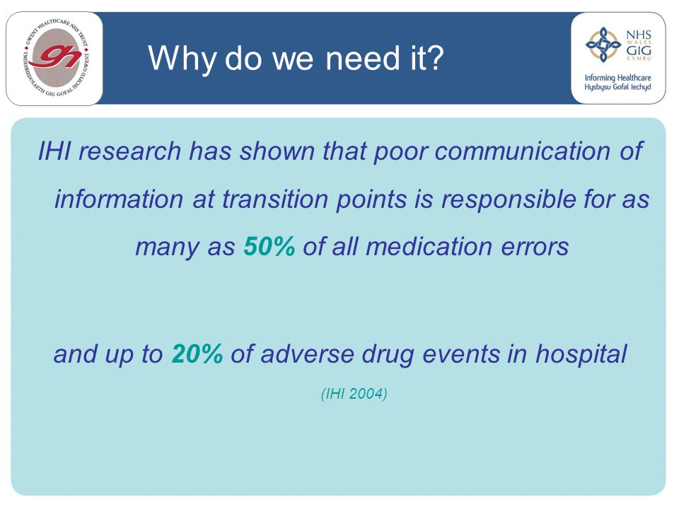 and up to 20% of adverse drug events in hospital