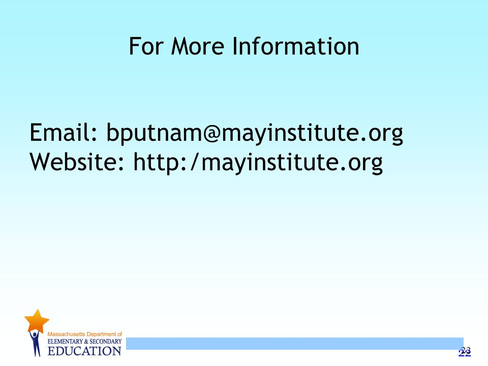 Website: http:/mayinstitute.org
