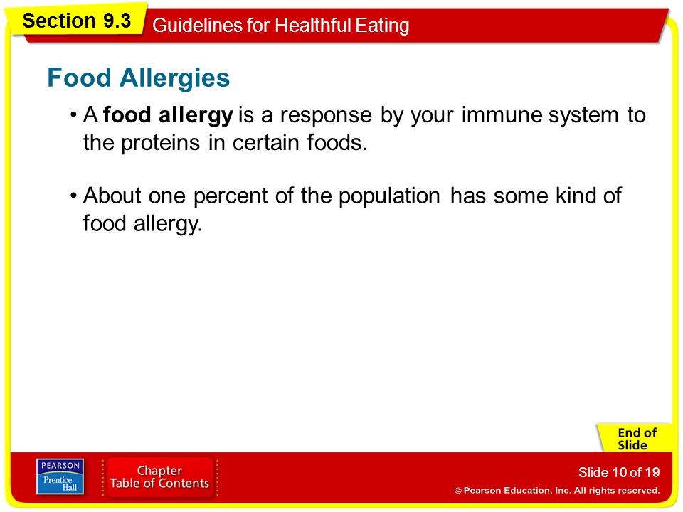 Food Allergies A food allergy is a response by your immune system to the proteins in certain foods.