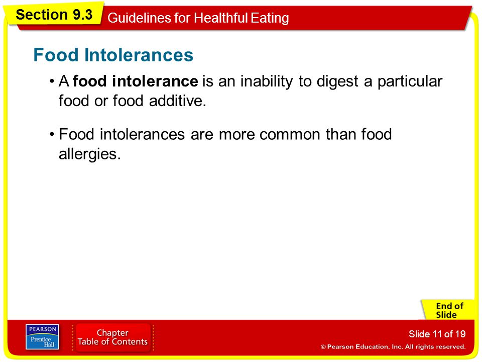 Food Intolerances A food intolerance is an inability to digest a particular food or food additive.