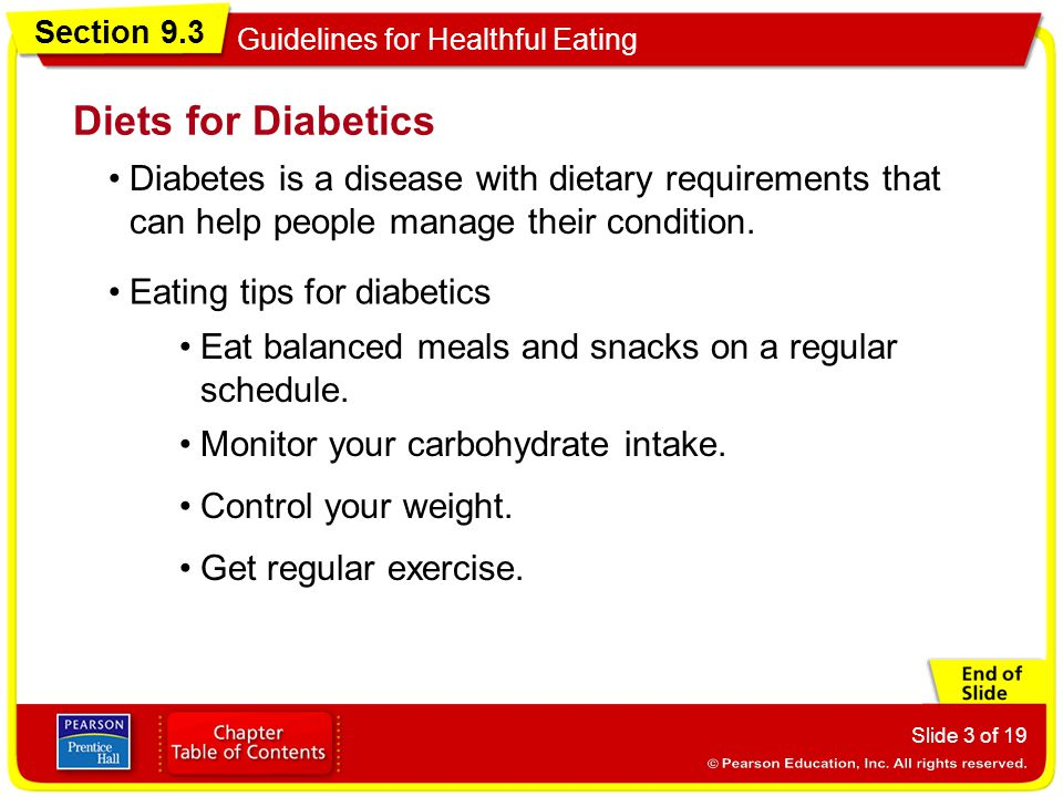 Diets for Diabetics Diabetes is a disease with dietary requirements that can help people manage their condition.