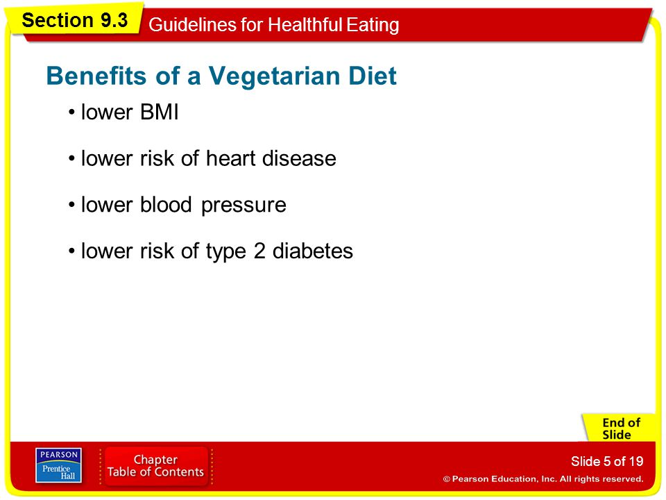 Benefits of a Vegetarian Diet