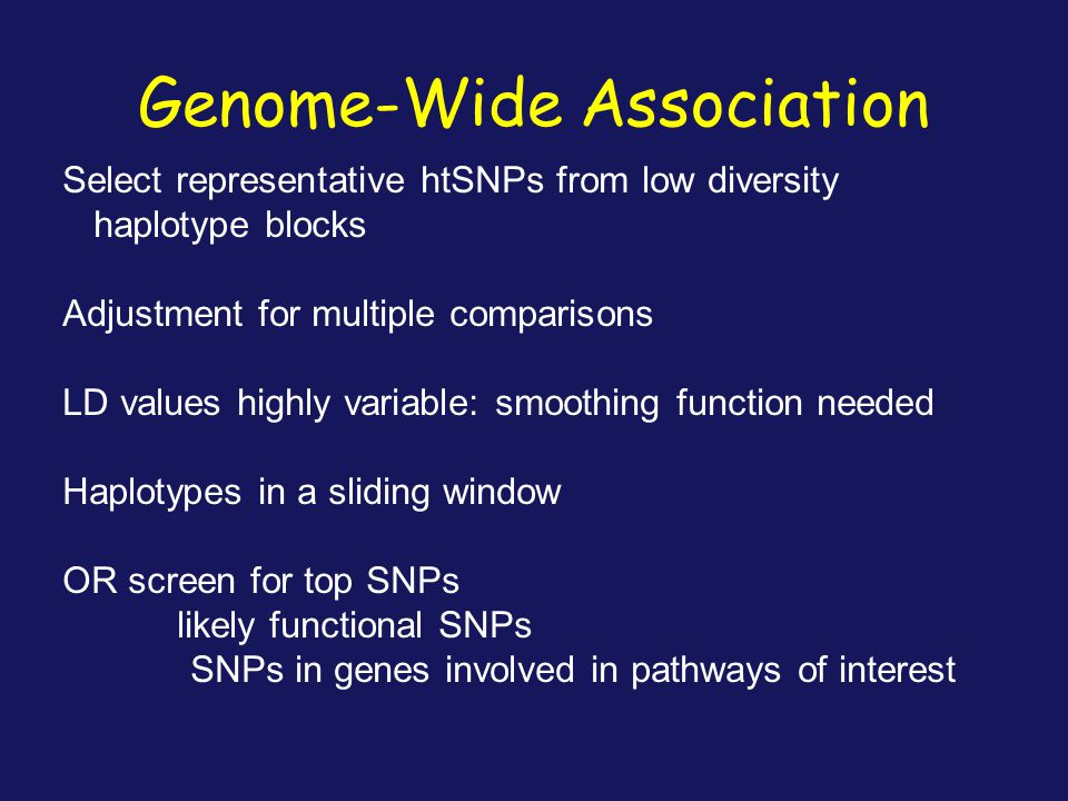 Genome-Wide Association
