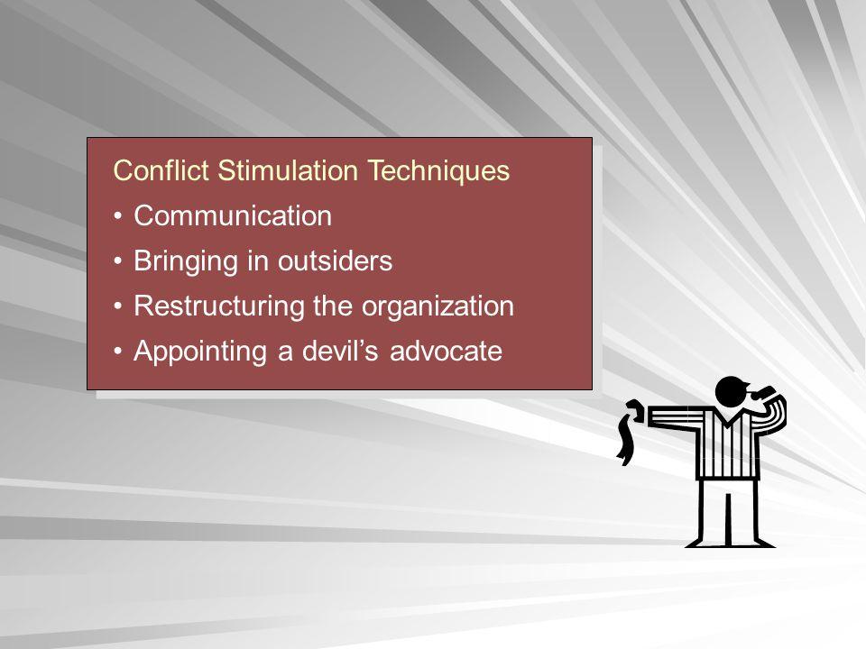 Conflict Stimulation Techniques