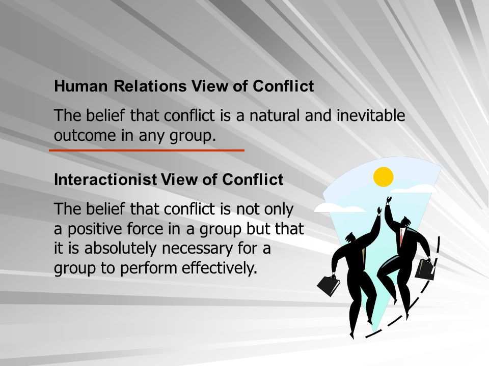 Human Relations View of Conflict