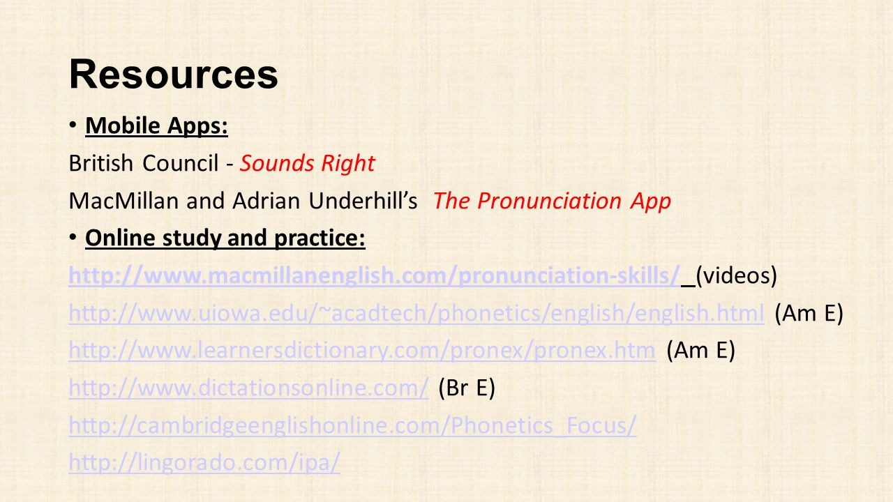 Resources Mobile Apps: British Council - Sounds Right
