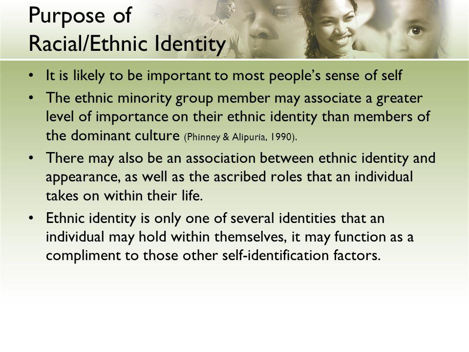 Purpose of Racial/Ethnic Identity