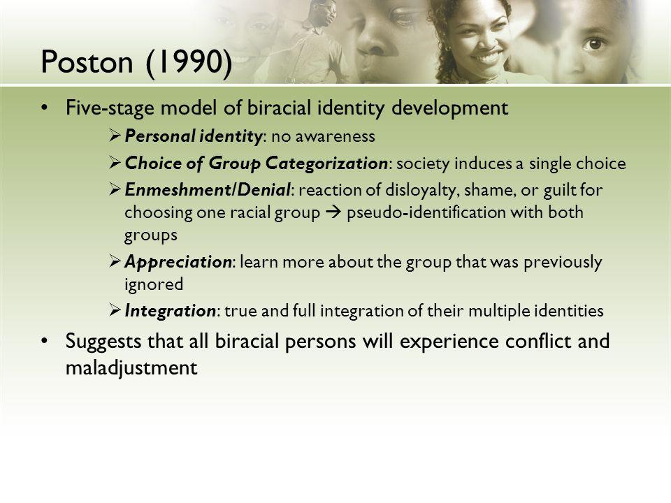 Poston (1990) Five-stage model of biracial identity development