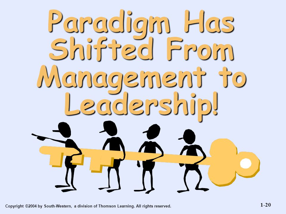 Paradigm Has Shifted From Management to Leadership!