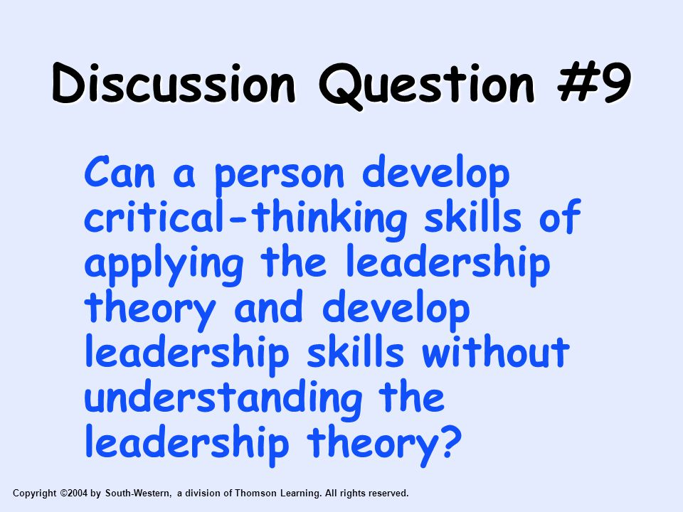 Discussion Question #9