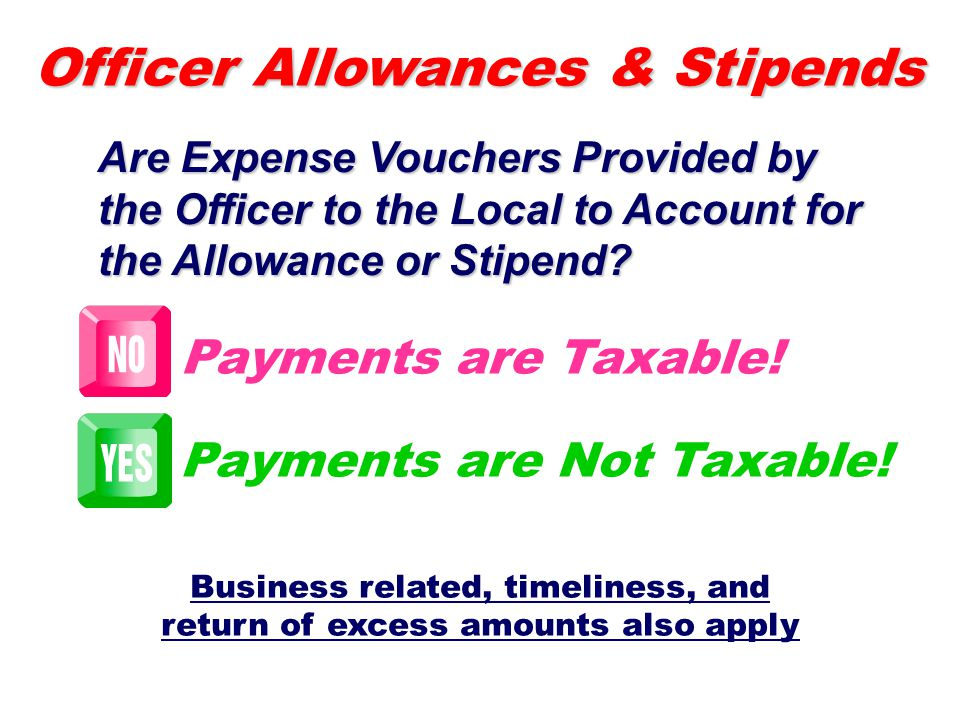 Business related, timeliness, and return of excess amounts also apply